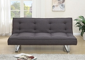 Ash Black Futon Adjustable Sofa Bed