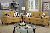 2 Pcs Citrus Linen like Sofa Set