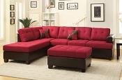 3pc Sectional with chaise and Ottoman-color option