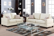 2 Pcs Beige sofa Set