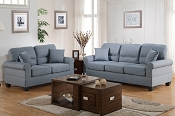 2 Pcs Grey Sofa Set