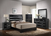 Black Texture Bed Frame