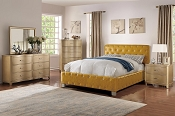 Citrus Faux Leather Bed Frame
