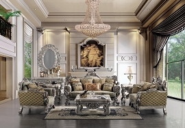 2 Pcs Metallic Elegant Living Room Set