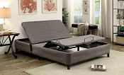 Gray Fabric Queen Adjustable Bed Frame
