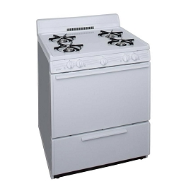 Premier 30 in. 3.91 cu. ft. Freestanding Gas Range in White
