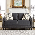 Charcoal Love Seat