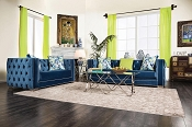 2 Pcs Lapis Blue Sofa Set