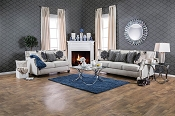 2 Pcs Contemporary Beige Sofa Set