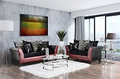 Two-Tone Design Sofa Set