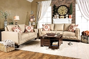2 Pcs Nor wick Beige Sofa Set