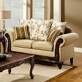 Traditional Beige Love Seat