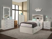 White Twin Chest Bed