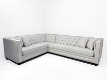 White Bella Tufted Sectional