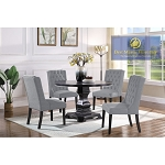 Y782 TRANSITIONAL ROUND 5 Pcs DINING SET/ Out of Stock | Restock ETA: 04/15/21