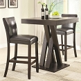 3 Pcs Bar Height Table and Stool Set