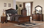 Cappuccino Traditional Bed Frame