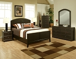 Queen Espresso Finish Bed Frame