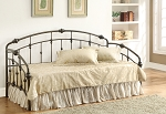Black Finish Metal Day Bed