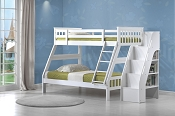 Twin/Full White Finish Bunk Bed