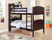 Espresso Finish Book Case Bunk Bed
