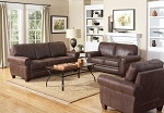 3 Piece Brown Micro Fiber Sofa Set