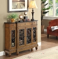 Oak Finish Console Table