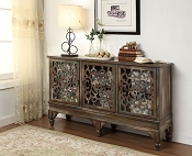Weathered Oak Wood Finish Console Table