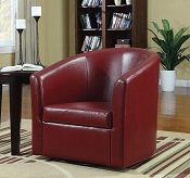 Red Leatherette Accent chair