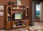 Light Oak Finish Entertainment Center