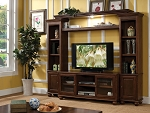 Walnut Finish Entertainment Center