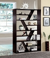 Zig Zag Espresso Finish Book Shelf