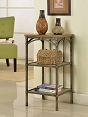 3-Tier Metal Side Table