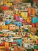 Colorful Town Oil Canvas Painting