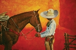 Charro with Horse Painting