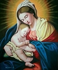 Virgin Marry with Baby Jesus Oil Painting on Canvas