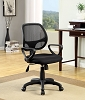 Black Finish Adjustable Office Chair with Mesh Back