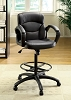 Counter Height Faux Leather Office Chair