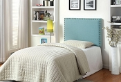 Twin Blue Upholster Headboard
