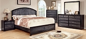Gray and Black Bed Frame