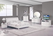Cosmo White King Bed Frame