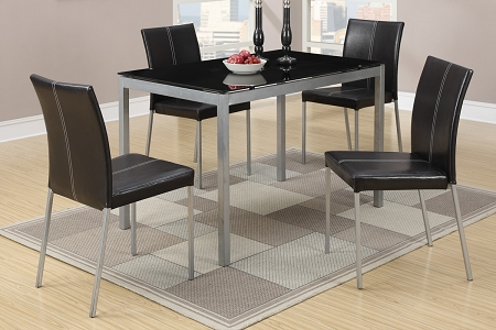 5 Piece Faux Marble Dining Set