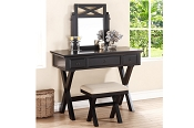 Black Vanity Set with Stool