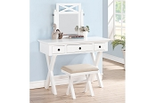 White Vanity Set with Stool