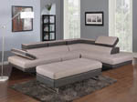 Grey and White Sectional Living Room Set