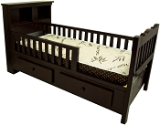 Junior Solid Wood Bed Frame with Mattress