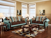 2 Pcs Traditional Sofa Set