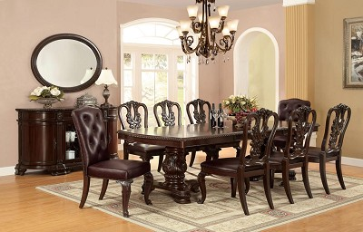 9 Pcs Traditional Dining Room Set