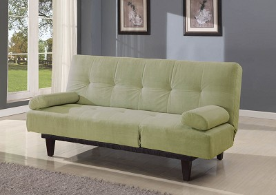 Saddle Adjustable Sofa with 2 Throw Pillows