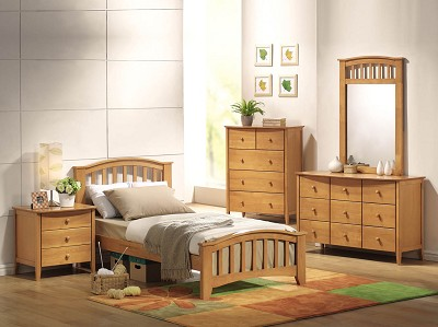 Maple Finish Twin Bed Frame